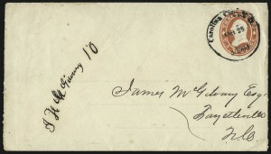 Sale Number 940, Lot Number 243, Handstamped Paid and Due MarkingsCarolina City N.C. Oct. 28 5 Paid, Carolina City N.C. Oct. 28 5 Paid