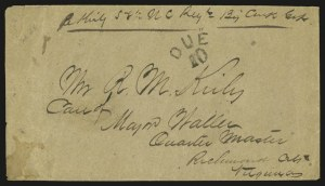 Sale Number 940, Lot Number 249, Handstamped Paid and Due Markings(Chattanooga Ten.) Due 10, (Chattanooga Ten.) Due 10