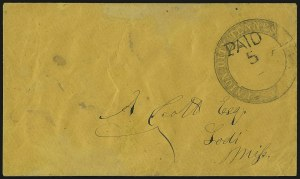 Sale Number 940, Lot Number 288, Handstamped Paid and Due MarkingsUnion City Tennessee, Union City Tennessee