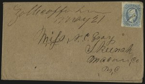 Sale Number 940, Lot Number 290, Handstamped Paid and Due MarkingsZollicoffer Tenn, Zollicoffer Tenn