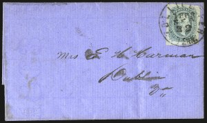 Sale Number 940, Lot Number 291, Handstamped Paid and Due MarkingsZollicoffer Tenn. Sep. 22, 1863, Zollicoffer Tenn. Sep. 22, 1863