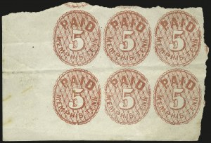 Sale Number 940, Lot Number 316, PostmasterMemphis Tenn., 5c Red (56X2), Memphis Tenn., 5c Red (56X2)