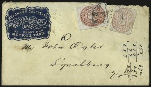 Sale Number 940, Lot Number 325, PostmasterMemphis Tenn., 5c Red (56X2), Memphis Tenn., 5c Red (56X2)