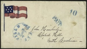 Sale Number 940, Lot Number 472, Patriotic CoversNashville Ten., Aug. 5, 1861, Nashville Ten., Aug. 5, 1861