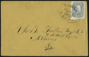 Sale Number 940, Lot Number 558, Railroad Covers (see also lot 426)10c Milky Blue, Die A (11a), 10c Milky Blue, Die A (11a)