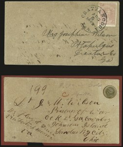 Sale Number 940, Lot Number 573, Flag-of-Truce and Prisoners10c Rose (5), 10c Rose (5)
