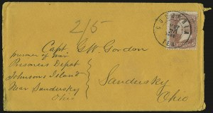 Sale Number 940, Lot Number 575, Flag-of-Truce and PrisonersJohnson's Island, Johnson's Island