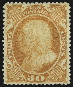 Sale Number 941, Lot Number 1025, 1857-60 Issue30c Orange (38), 30c Orange (38)