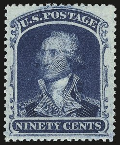 Sale Number 941, Lot Number 1026, 1857-60 Issue90c Blue (39), 90c Blue (39)