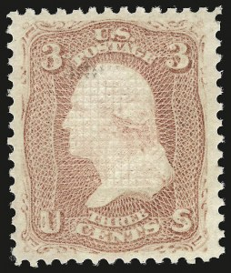 Sale Number 941, Lot Number 1044, 1868 Grilled Issue3c Rose, E. Grill (88), 3c Rose, E. Grill (88)