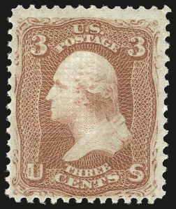 Sale Number 941, Lot Number 1050, 1868 Grilled Issue3c Red, F. Grill (94). Mint N.H, 3c Red, F. Grill (94). Mint N.H