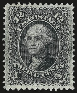 Sale Number 941, Lot Number 1053, 1868 Grilled Issue12c Black, F. Grill (97), 12c Black, F. Grill (97)