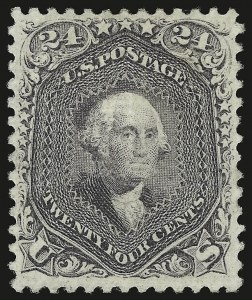 Sale Number 941, Lot Number 1055, 1868 Grilled Issue24c Gray Lilac, F. Grill (99), 24c Gray Lilac, F. Grill (99)