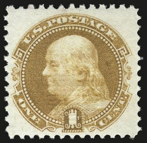 Sale Number 941, Lot Number 1065, 1869 Pictorial Issue1c Buff (112). Mint N.H, 1c Buff (112). Mint N.H