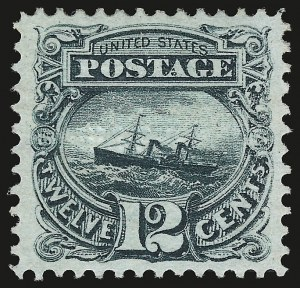 Sale Number 941, Lot Number 1070, 1869 Pictorial Issue12c Green (117), 12c Green (117)