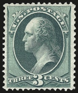 Sale Number 941, Lot Number 1087, 1870 National Bank Note Co. Issue3c Green, Grill (136), 3c Green, Grill (136)