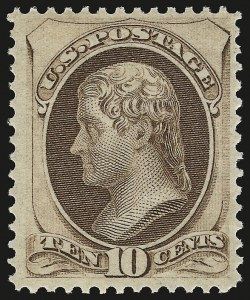 Sale Number 941, Lot Number 1094, 1870 National Bank Note Co. Issue10c Brown (150). Mint N.H, 10c Brown (150). Mint N.H