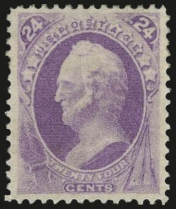 Sale Number 941, Lot Number 1096, 1870 National Bank Note Co. Issue24c Purple (153), 24c Purple (153)