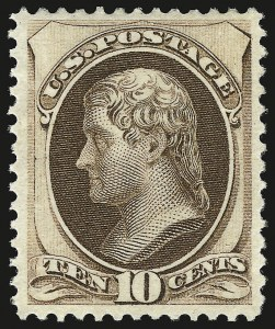 Sale Number 941, Lot Number 1103, 1873 Continental Bank Note Co. Issue10c Brown (161), 10c Brown (161)