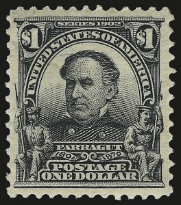 Sale Number 941, Lot Number 1217, 1902-08 Issues (Scott 300 thru 322)$1.00 Black (311), $1.00 Black (311)