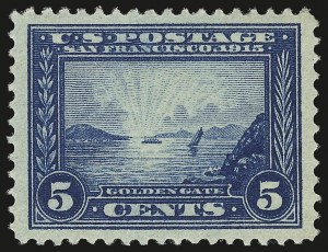 Sale Number 941, Lot Number 1271, 1913-15 Panama-Pacific Issue (Scott 397 thru 404)5c Panama-Pacific (399), 5c Panama-Pacific (399)