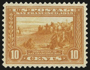 Sale Number 941, Lot Number 1273, 1913-15 Panama-Pacific Issue (Scott 397 thru 404)10c Orange, Panama-Pacific (400A), 10c Orange, Panama-Pacific (400A)