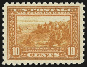 Sale Number 941, Lot Number 1274, 1913-15 Panama-Pacific Issue (Scott 397 thru 404)10c Panama-Pacific, Perf 10 (404), 10c Panama-Pacific, Perf 10 (404)