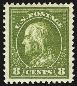 Sale Number 941, Lot Number 1277, 1912-23 Issues (Scott 405 to 461)8c Pale Olive Green (414), 8c Pale Olive Green (414)