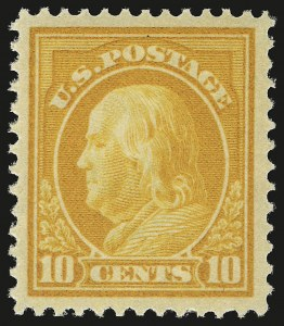 Sale Number 941, Lot Number 1279, 1912-23 Issues (Scott 405 to 461)10c Orange Yellow (416), 10c Orange Yellow (416)