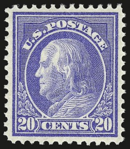 Sale Number 941, Lot Number 1280, 1912-23 Issues (Scott 405 to 461)20c Ultramarine (419), 20c Ultramarine (419)
