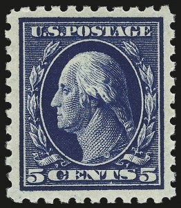 Sale Number 941, Lot Number 1285, 1912-23 Issues (Scott 405 to 461)5c Blue (428), 5c Blue (428)