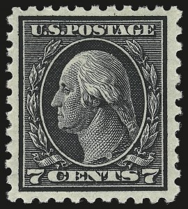 Sale Number 941, Lot Number 1287, 1912-23 Issues (Scott 405 to 461)7c Black (430), 7c Black (430)