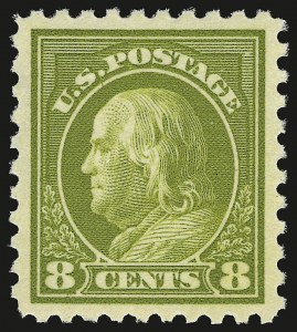 Sale Number 941, Lot Number 1288, 1912-23 Issues (Scott 405 to 461)8c Pale Olive Green (431), 8c Pale Olive Green (431)