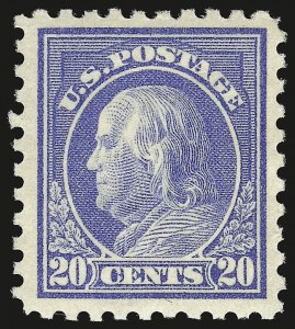 Sale Number 941, Lot Number 1293, 1912-23 Issues (Scott 405 to 461)20c Ultramarine (438), 20c Ultramarine (438)
