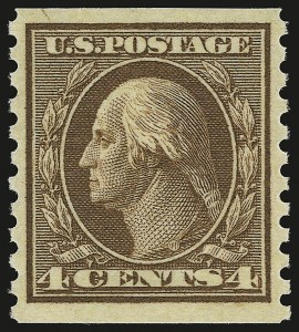 Sale Number 941, Lot Number 1300, 1912-23 Issues (Scott 405 to 461)4c Brown, Coil (446), 4c Brown, Coil (446)