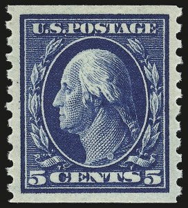 Sale Number 941, Lot Number 1301, 1912-23 Issues (Scott 405 to 461)5c Blue, Coil (447), 5c Blue, Coil (447)