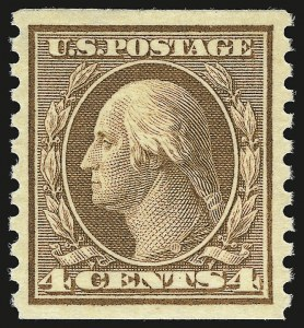 Sale Number 941, Lot Number 1307, 1912-23 Issues (Scott 405 to 461)4c Brown, Coil (457), 4c Brown, Coil (457)