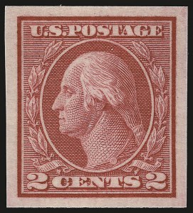 Sale Number 941, Lot Number 1308, 1912-23 Issues (Scott 405 to 461)2c Carmine, Ty. I, Imperforate Coil (459), 2c Carmine, Ty. I, Imperforate Coil (459)
