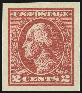 Sale Number 941, Lot Number 1340, 1912-23 Issues (Scott 523 to 662)2c Carmine, Ty. VII, Imperforate (534B), 2c Carmine, Ty. VII, Imperforate (534B)