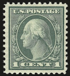 Sale Number 941, Lot Number 1344, 1912-23 Issues (Scott 523 to 662)1c Green, Rotary (545), 1c Green, Rotary (545)