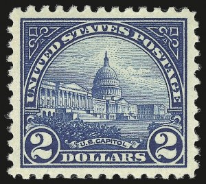 Sale Number 941, Lot Number 1347, 1912-23 Issues (Scott 523 to 662)$2.00 Deep Blue (572), $2.00 Deep Blue (572)