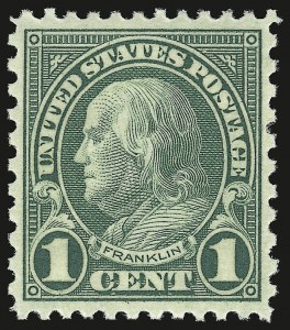 Sale Number 941, Lot Number 1348, 1912-23 Issues (Scott 523 to 662)1c Green, Rotary (578), 1c Green, Rotary (578)