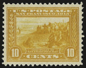 Sale Number 946, Lot Number 1001, 1913-15 Panama-Pacific Issue (Scott 397-404)10c Orange Yellow, Panama-Pacific (400), 10c Orange Yellow, Panama-Pacific (400)