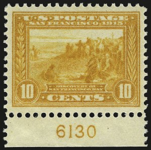 Sale Number 946, Lot Number 1002, 1913-15 Panama-Pacific Issue (Scott 397-404)10c Orange Yellow, Panama-Pacific (400), 10c Orange Yellow, Panama-Pacific (400)