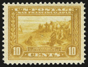 Sale Number 946, Lot Number 1003, 1913-15 Panama-Pacific Issue (Scott 397-404)10c Orange Yellow, Panama-Pacific (400), 10c Orange Yellow, Panama-Pacific (400)