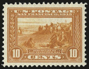 Sale Number 946, Lot Number 1008, 1913-15 Panama-Pacific Issue (Scott 397-404)10c Orange, Panama-Pacific (400A), 10c Orange, Panama-Pacific (400A)