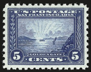 Sale Number 946, Lot Number 1010, 1913-15 Panama-Pacific Issue (Scott 397-404)5c Panama-Pacific, Perf 10 (403), 5c Panama-Pacific, Perf 10 (403)