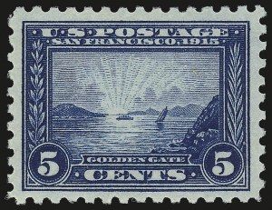 Sale Number 946, Lot Number 1011, 1913-15 Panama-Pacific Issue (Scott 397-404)5c Panama-Pacific, Perf 10 (403), 5c Panama-Pacific, Perf 10 (403)