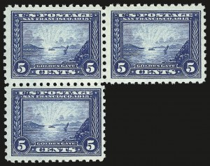 Sale Number 946, Lot Number 1013, 1913-15 Panama-Pacific Issue (Scott 397-404)5c Panama-Pacific, Perf 10 (403), 5c Panama-Pacific, Perf 10 (403)