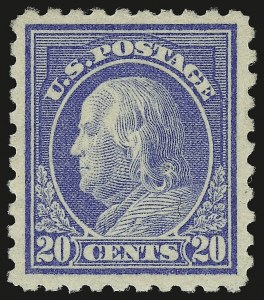 Sale Number 946, Lot Number 1046, 1913-15 Washington-Franklin Issues (Scott 424-461)20c Ultramarine (438), 20c Ultramarine (438)